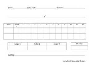 free scorecard template 187 boxing scorecard archive and
