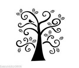 Tree Stencil Template by Curly Tree Stencil Bird Whimsical Leaf Leaves Branches