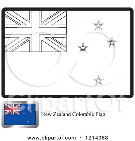Royalty Free Vector Clip Art Illustration Of A Kiwi Bird New Zealand Flag Coloring Page