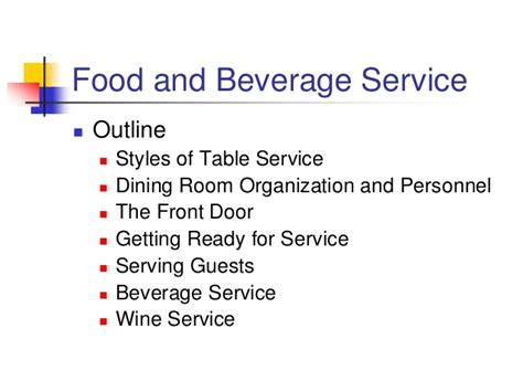 dining room service