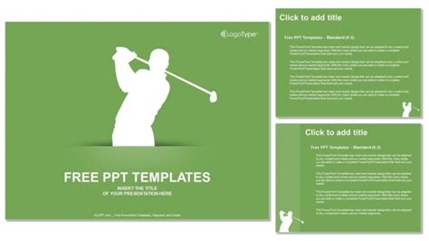 Silhouette Of Golf Powerpoint Templates Golf Design Template