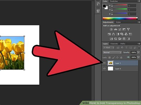 how to make background transparent in photoshop 4 easy ways to add transparency in photoshop wikihow
