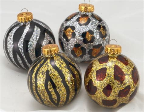 animal print christmas ornament