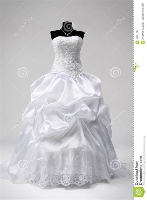 wedding dress on a mannequin stock photo image 32901734