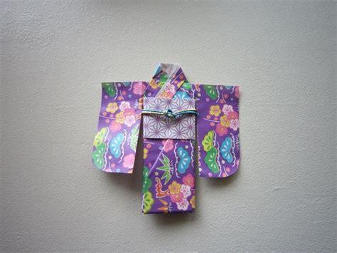 Kimono Origami - kimono origami creative paper craftwork