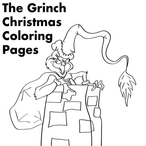 grinch whoville coloring pages grinch christmas printable coloring pages holidappy