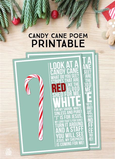 candy cane poem printable  laugh rowe