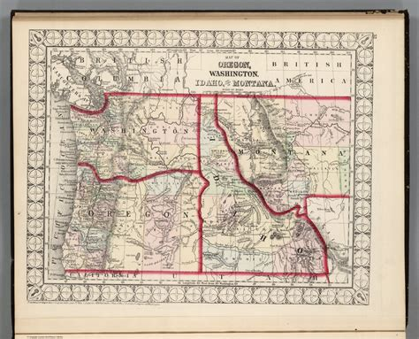 idaho montana map washington idaho montana map images