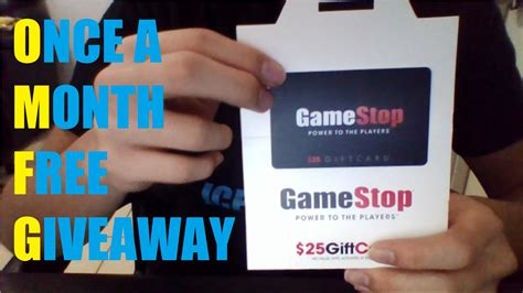 Gamestop Electronic Gift Card - giveaway 25 gamestop gift card youtube