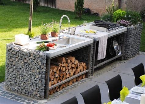hinterhof küche ideen outdoor stein k 252 che