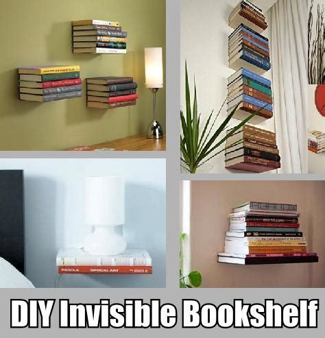 diy invisible bookshelf diy cozy home