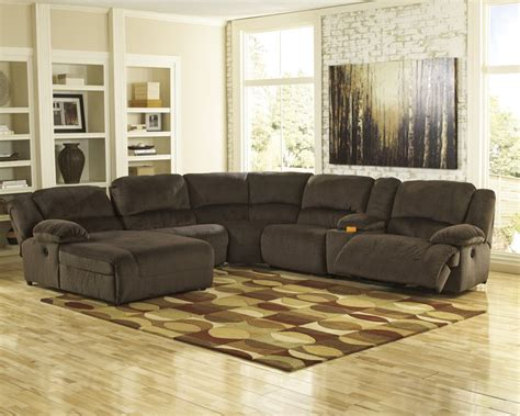 Cls Sofas Toletta Chocolate 6 Pc Laf Chaise Reclining Sectional
