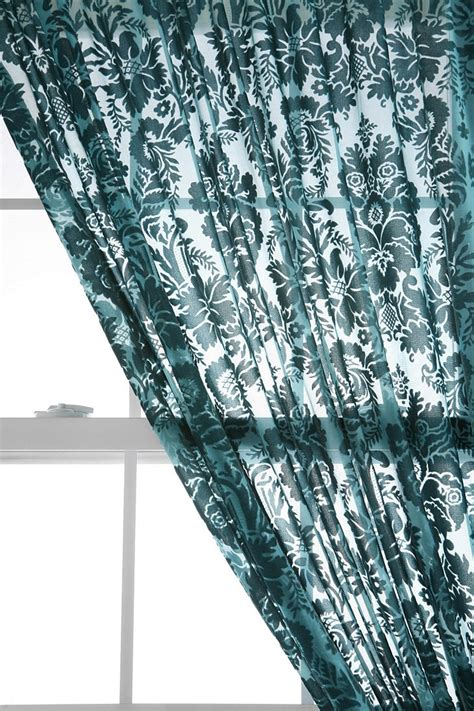 damask velvet burnout curtain 1000 images about rugs and curtains on pinterest