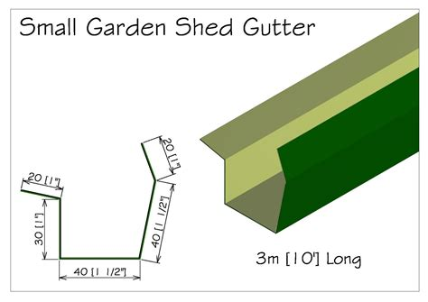 Guttering For Shed by Torkela Access Garden Shed Gutter