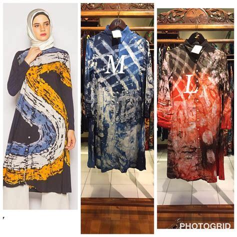 jual dhawy tunik batik abstrak  dian pelangi original
