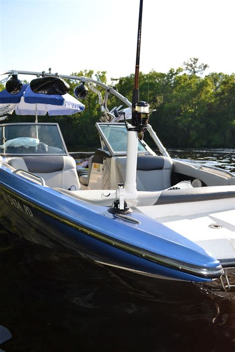 fish and ski boat accessories versarod adjustable vacuum mounted fishing rod holder