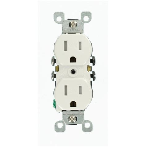 Leviton 15 amp weather and tamper resistant duplex outlet white r62 w5320 t0w the home depot