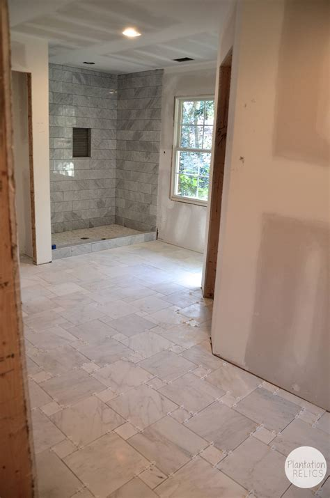Marble Master Bathroom Carrara Marble Master Bath Flip House Update
