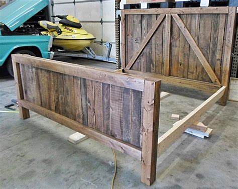Hometalk Pallet Wood Up Cycled Into One Heavy Duty Barn Barn Door Bed Frame