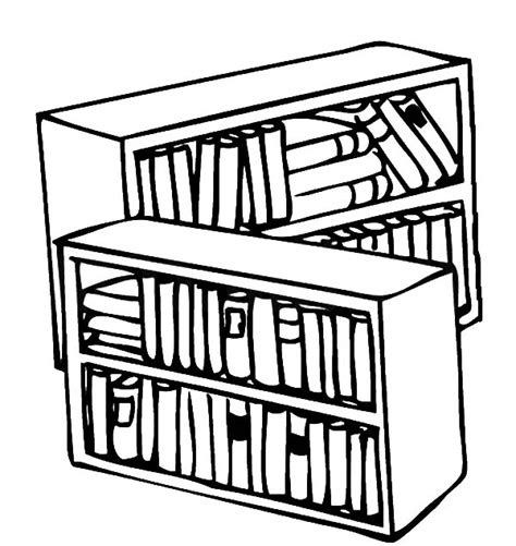 color library coloring book shelves library coloring pages