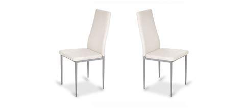 chaise blanche salle a manger chaise de salle 224 manger blanche design et contemporaine