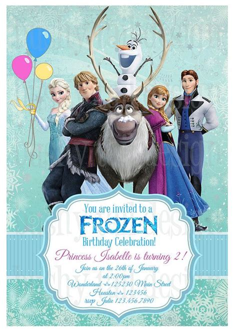 frozen birthday card template frozen birthday invitations frozen birthday invitations