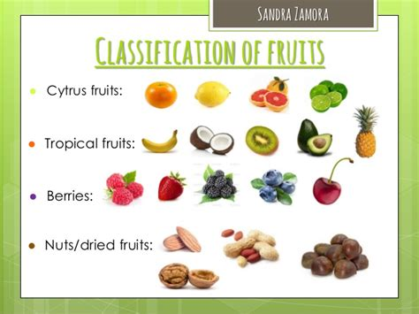 6 fruit classifications fruits