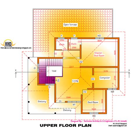 floor plan and elevation of 2203 square feet 205 square 2d elevation and floor plan of 2633 sq feet kerala home