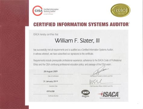 certified information systems auditor cisa cert guide certification guide books william f slater iii professional certifications