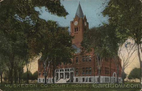 Michigan Court House by Muskegon County Court House Postcard
