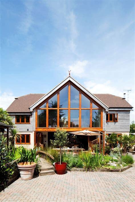gable  glazing  rear extension timber cladding bi