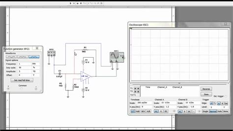 integrator circuit on multisim differentiator circuit simulation in multisim