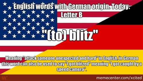 Ambulance In German Meme - english words with german origin today letter b by