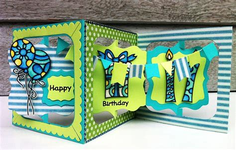 how to make an accordion card happy birthday accordion card