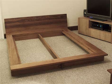 japanese platform bed iroko platform bed bespoke handmade bedroom furniture brighton sussex tekton
