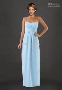 beautiful light blue chiffon bridesmaid dresses to inspire