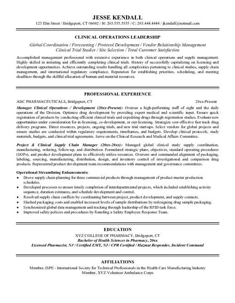 resume exle director of operations resume ixiplay
