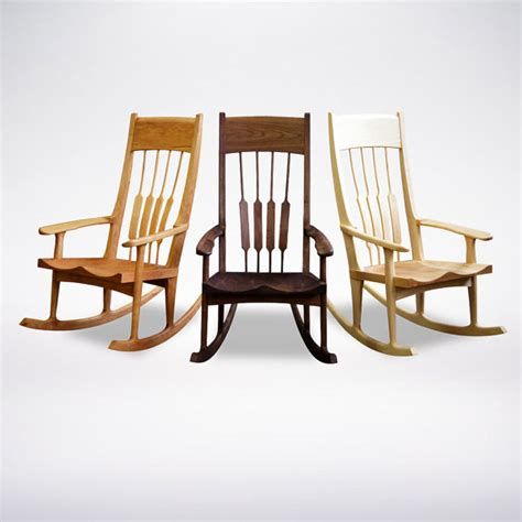 Handmade Wooden Rocking Chairs - rocking chair solid wood handmade organic finish contemporary