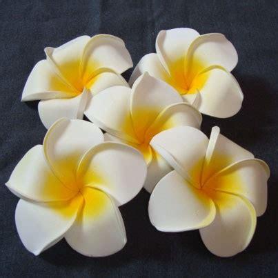 An61 Anting Topeng Hiasan Bunga Putih bunga jepun putih 9cm