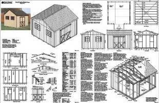 12 x12 gable garden storage shed plans free sles ebay