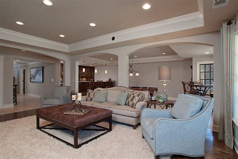 Terrific Bleeker Beige decorating ideas for Basement Traditional design ideas with Terrific
