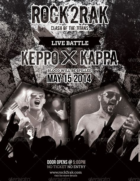 Rak Flyer rock to rak concert clash flyers by totopc graphicriver