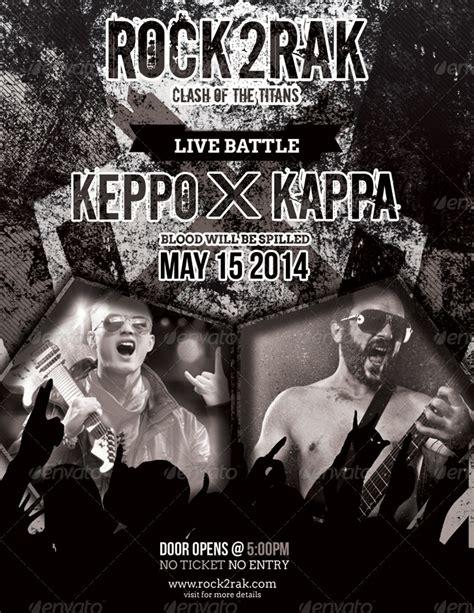 Rak Flyer rock to rak concert clash flyers by totopc graphicriver