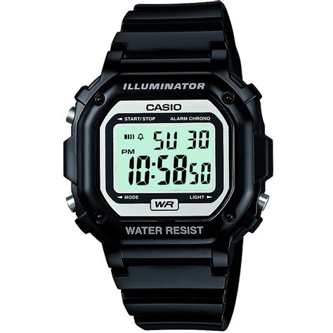 casio f 108whc 1aef s collection black digital f