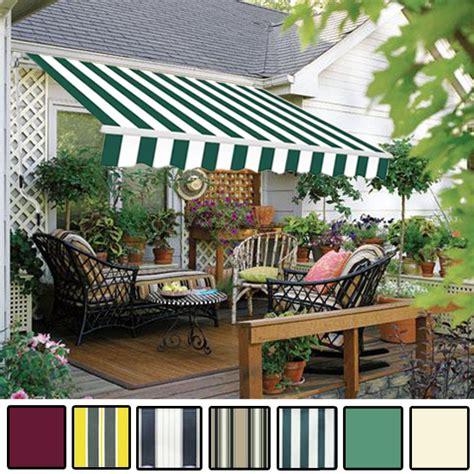 Garden Awnings Uk by Manual Awning Canopy Garden Patio Shade Shelter Aluminium