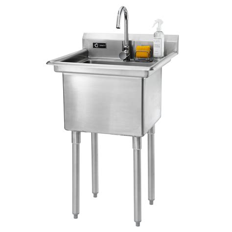 23 quot x 23 quot single stainless steel utility sink with