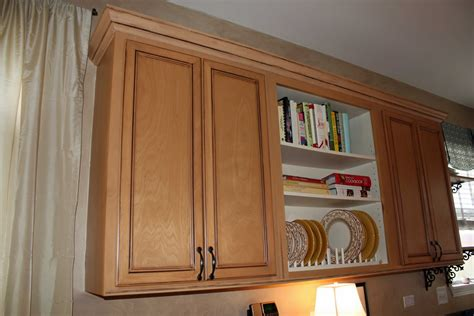 crown moulding on kitchen cabinets upgrade builder grade oak cabinets without painting