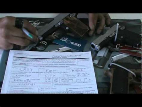 Firearm Background Check Form Firearms Background Check Form Basics