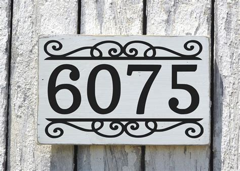 hanging house numbers for l post address house numbers signs personalized house number