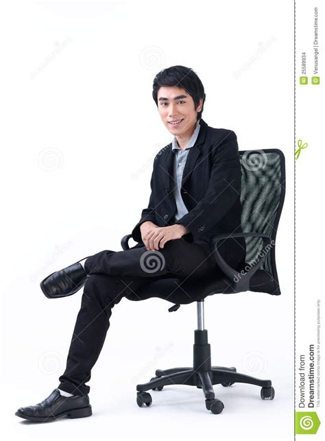 sitting on chairs business sitting in chair stock photo image of